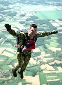 кабрування - положення тіла парашутиста