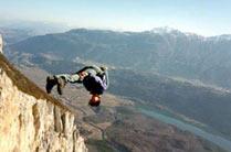 Сальто вперед парашутиста