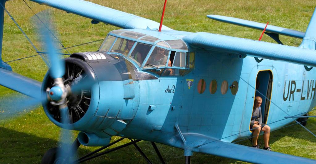 Костюк на борту Ан-2