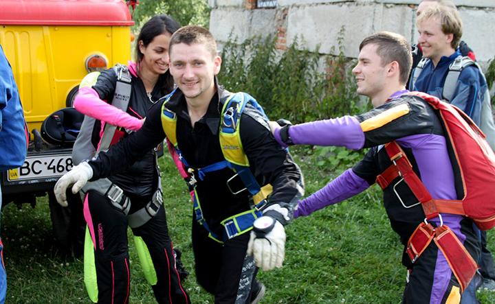 Спортсмени-парашутисти ЛАСК