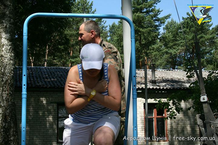 Іванка Попудник на передстрибковій підготовці