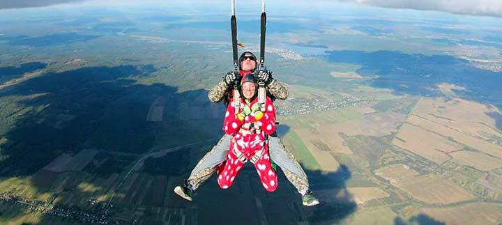 Стрибок з парашутом тандем